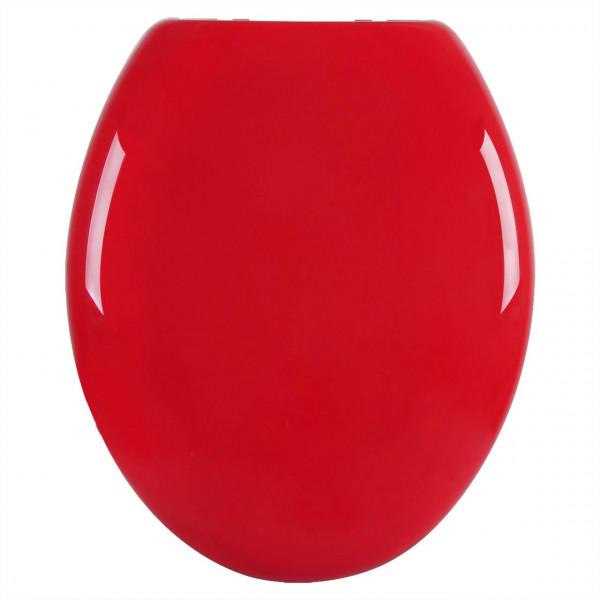 WC-Sitz Kunststoff Rot mit Absenkautomatik
