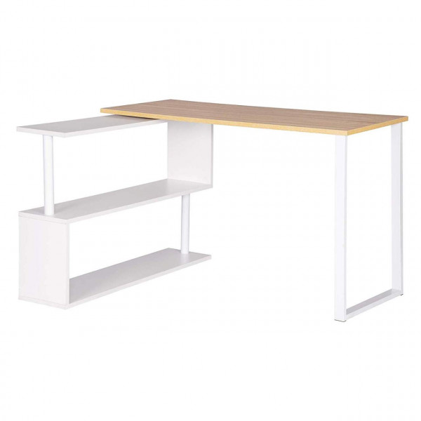 Schreibtisch Arbeitstisch mit Ablagen MDF, Eiche hell