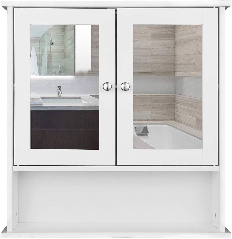 Mirror Cabinet With Shelf For The Bathroom Woltu Eu