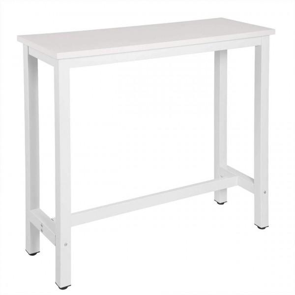 Bartisch Metallgestell Tischplatte aus MDF, weiß