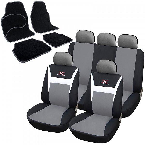 """Auto sitzbezüge + Fußmatten mit """"X-RACING""""-Muster"""