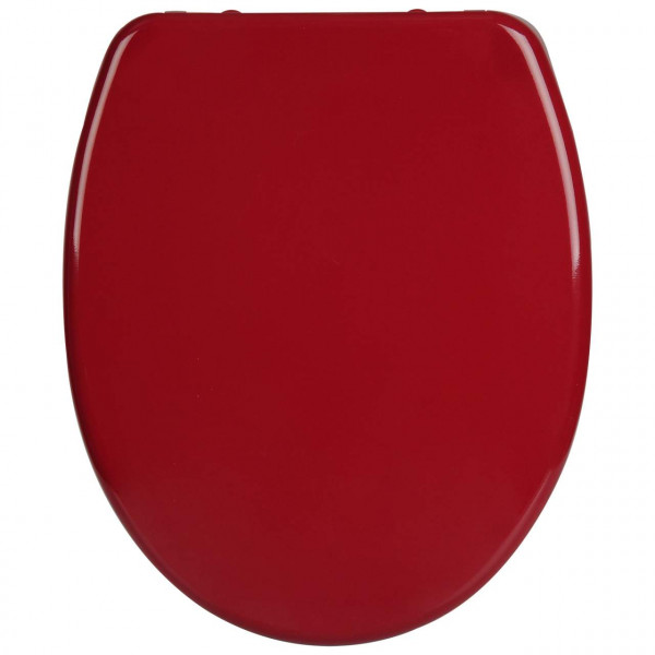 WC-Sitz Duroplast bordeaux rot mit Absenkautomatik