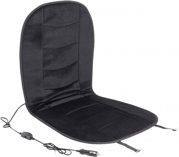 Car seat heating for seat & back black