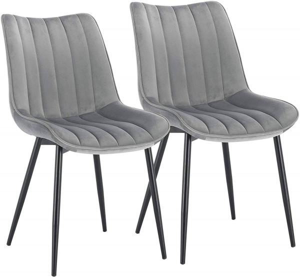 2er-Set Küchenstuhl aus Samt - Modell Hanno
