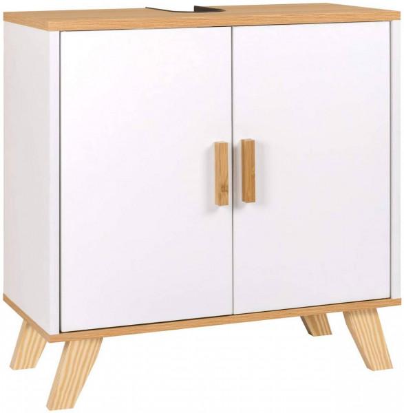 Badschrank mit 2 Türen 60 x 30 x 60 cm weiß
