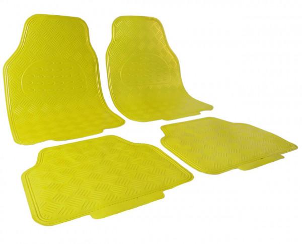 Auto Fußmatten gelb matt