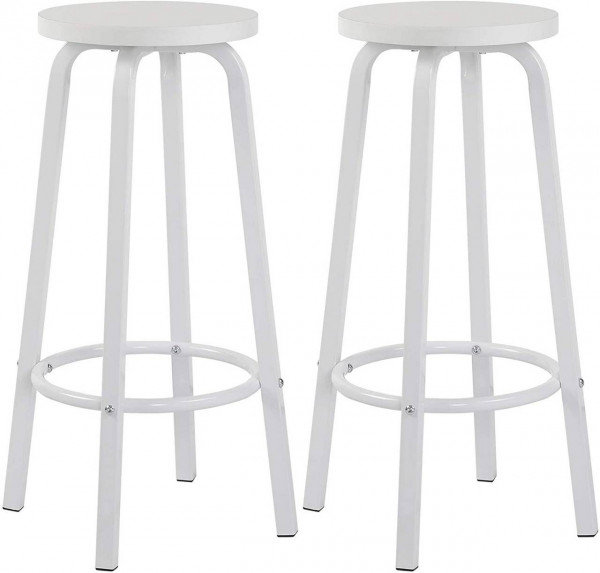 Set of 2 bistro stools made of MDF and metal