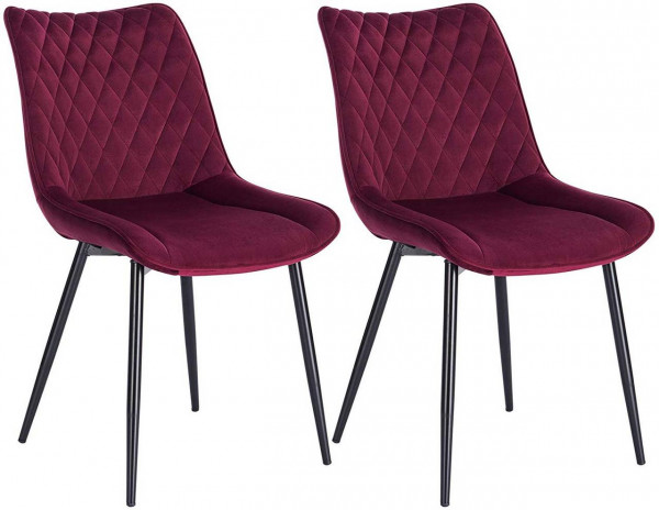 2 pieces velvet kitchen chairs - Model Alois
