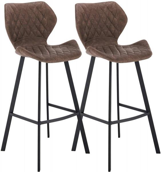 Leatherette designer barstool - 2-piece Set - model Münter