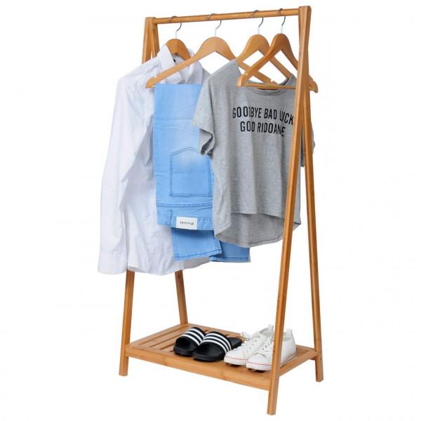 Kleiderständer Kleiderstange Bambus Regal SR0035