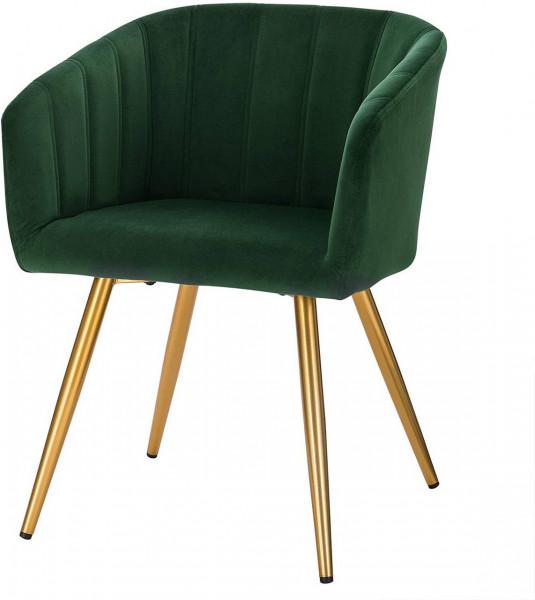 Kitchen chair in velvet, metal frame - Annika model