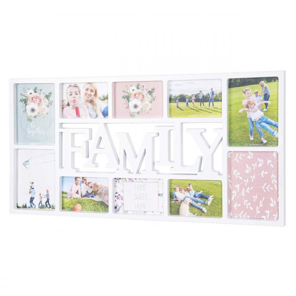 Picture frame family plastic for 10 photos