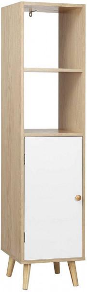 Bücherregal Bücherschrank mit Tür aus Holz Tuva