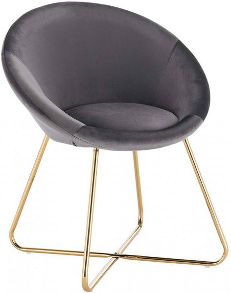 Küchenstuhl aus Samt & Metallbeine - Modell Hanna
