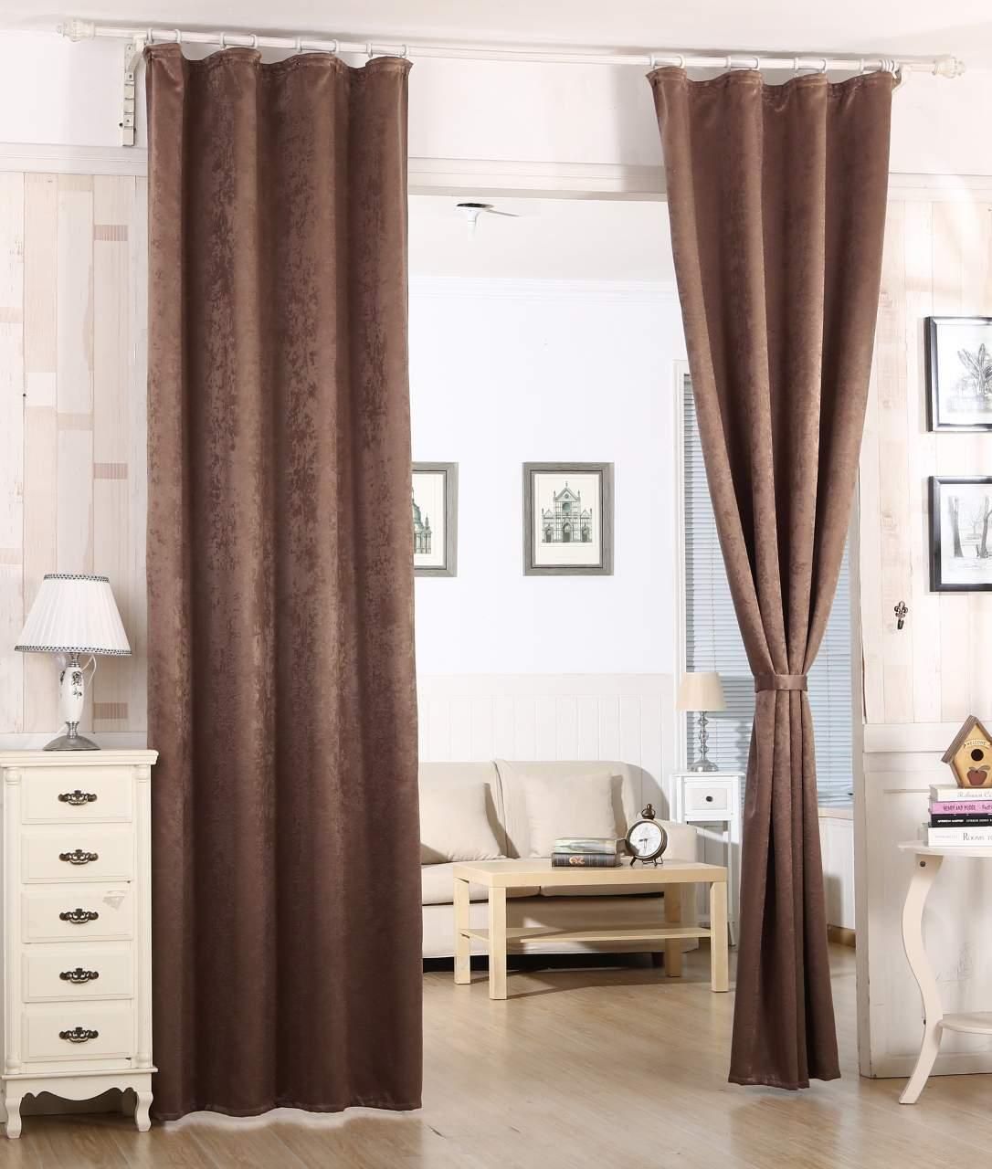WOLTU 135 x 175 cm Gardine Vorhang blickdicht Thermo-Gardine Thermo Hell-Grau
