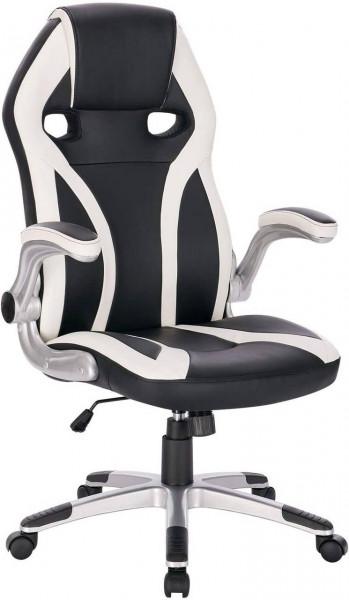 Gaming Stuhl Bürostuhl aus Kunstleder Mario, weiß
