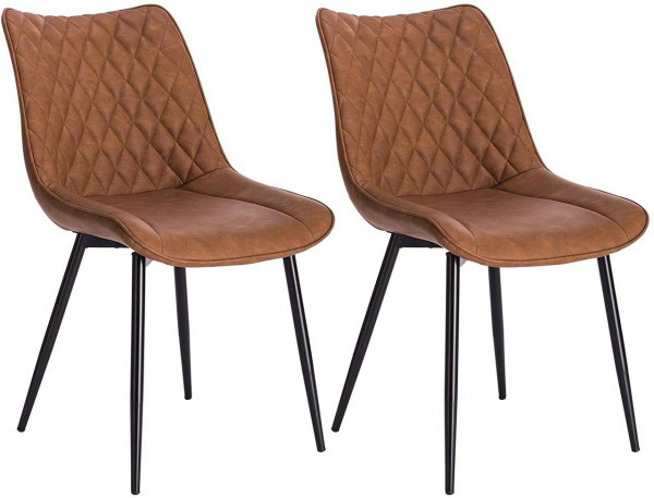 2 pieces faux leather kitchen chairs - Model Alois