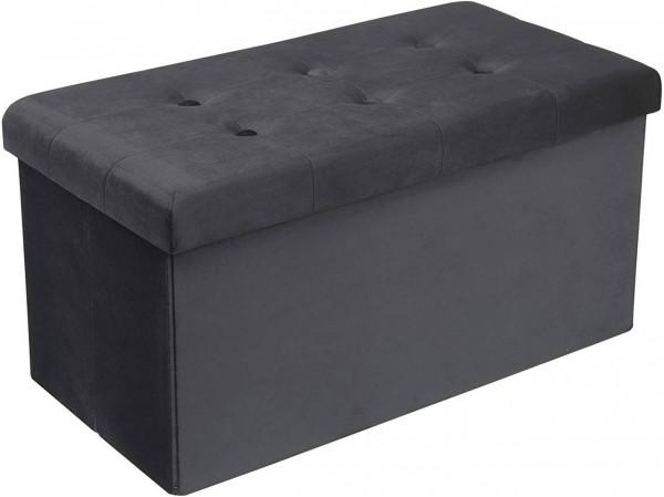 Sitzhocker mit Stauraum, Deckel abnehmbar Qulina, grau