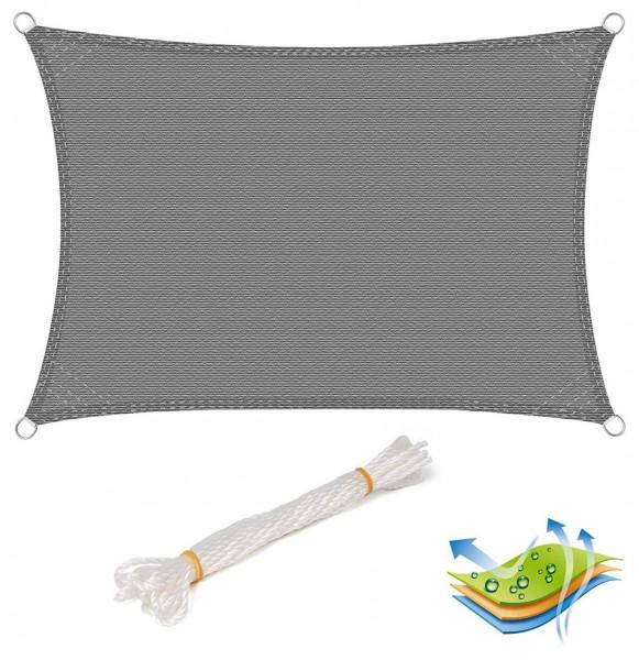 Sonnensegel Sonnenschutz HDPE Windschutz UV Schutz Grau