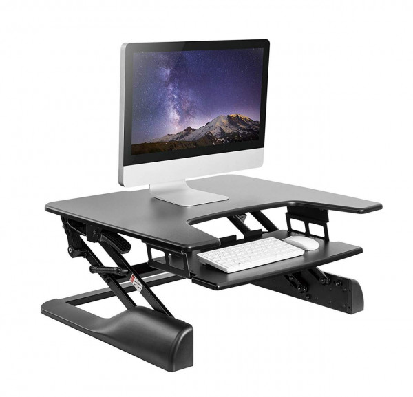 Computertisch PC Tisch Höhenverstellbar Blech Schwarz