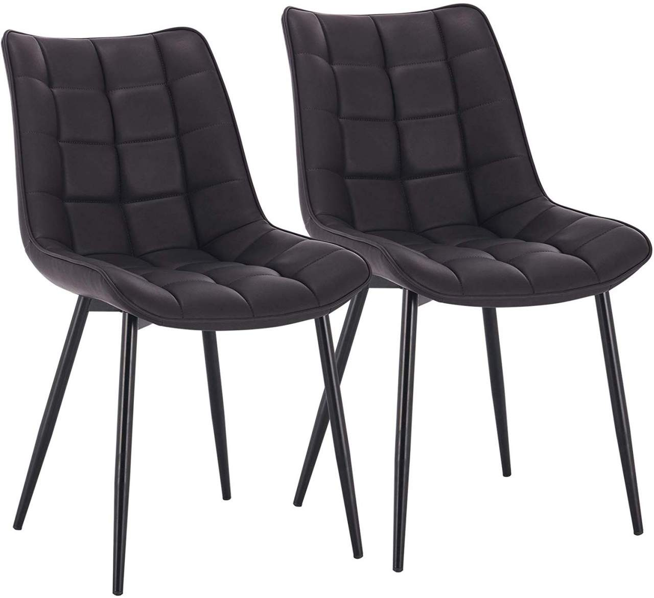 7 pieces faux leather kitchen chairs - Model Elif