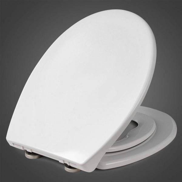 WC-Sitz Duroplast Weiß mit Absenkautomatik und Schnellbefestigung