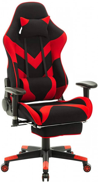 Gaming chair with headrest and leather pillow model Tom