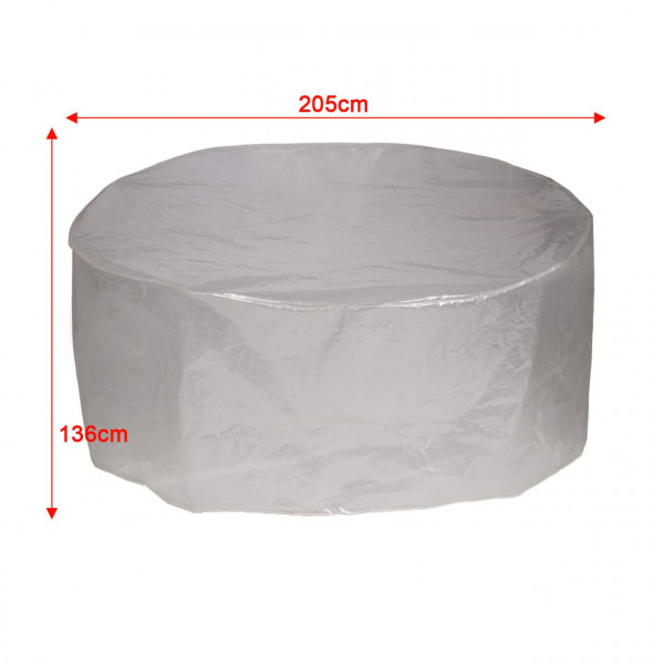 Garden protection cover for transparent island 205x136