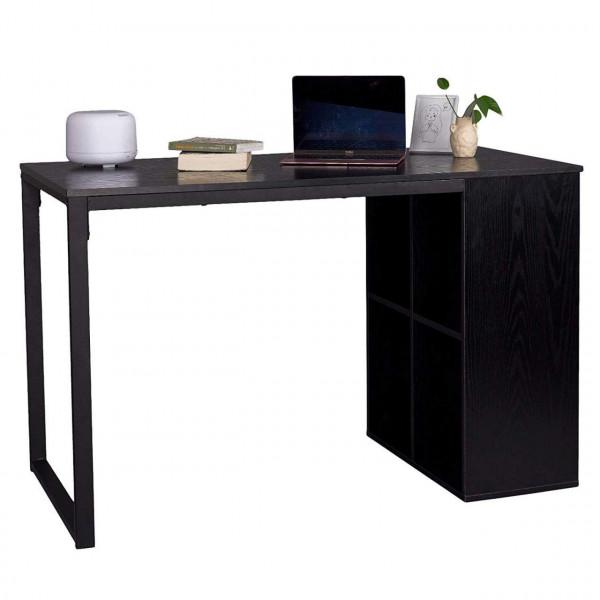 Schreibtisch Computertisch mit 4 Ablage Holz & Stahl