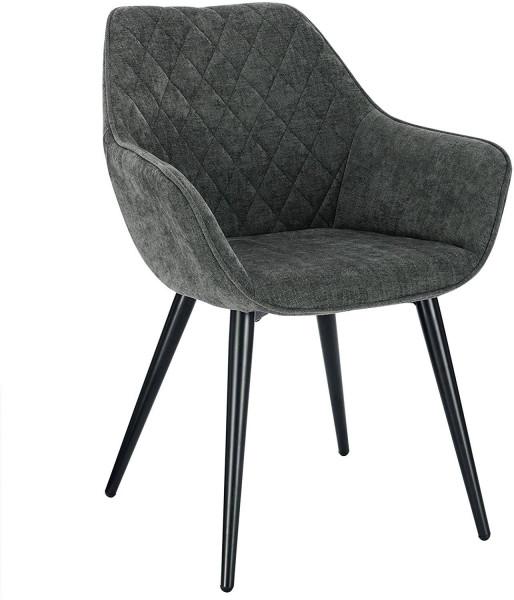 Chenille & metal living room chair - Beca model