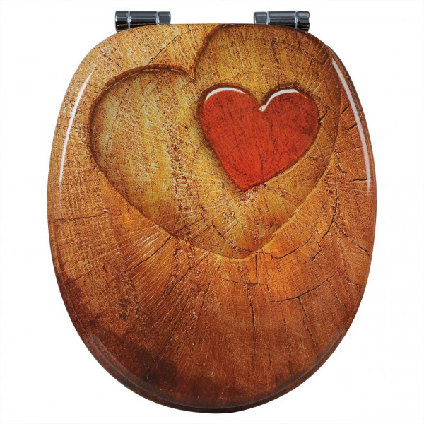 WC-Sitz MDF mit Absenkautomatik Wood Heart