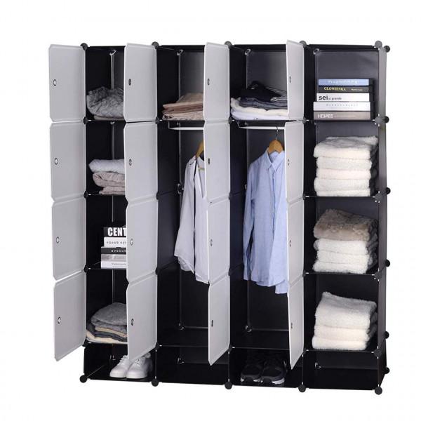 Kleiderschrank Garderobenschrank Mit 2 Kleiderstange