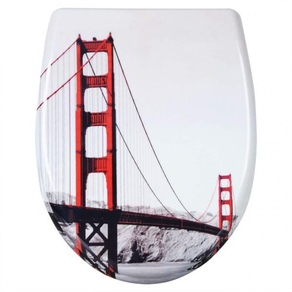 WC-Sitz Duroplast Golden Gate Bridge mit Absenkautomatik