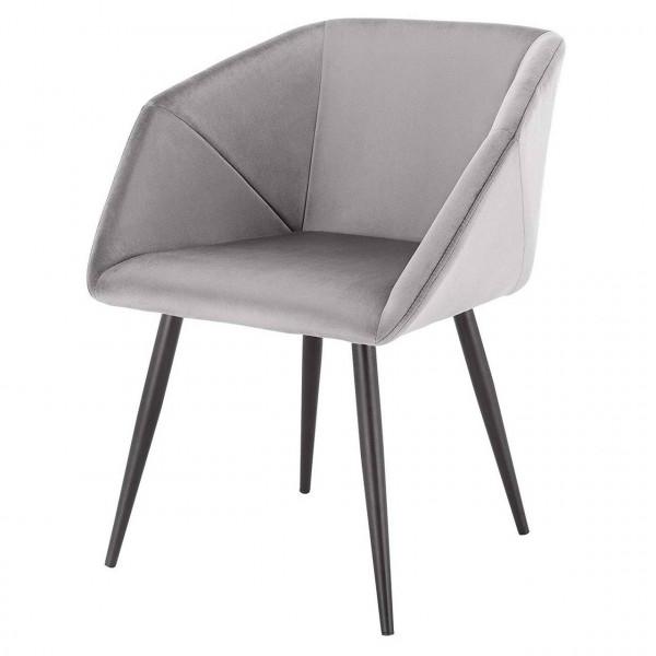 Küchenstuhl aus Samt mit Metallbeinen - Modell Julia