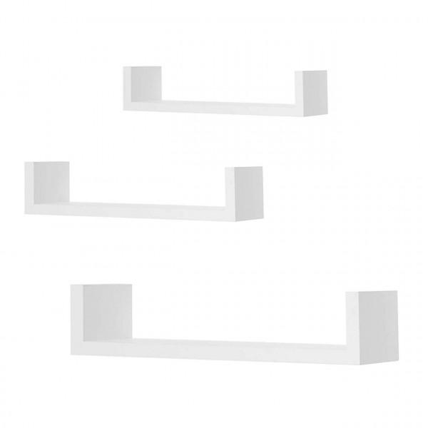 3er-Set Wandregal Retro Hängeregal in U Form