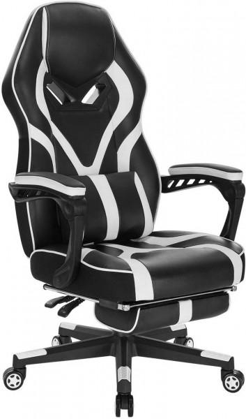 Gaming Stuhl aus Kunstleder Bernd, weiß
