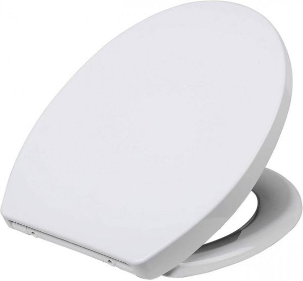 Premium toilet seat with automatic lowering, plastic, Fast Fix, Soft close, 2423
