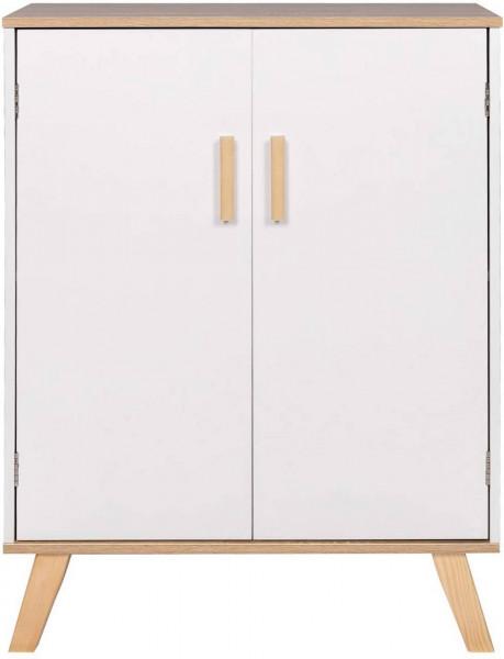 Badschrank mit 2 Türen 60x30x80cm weiß