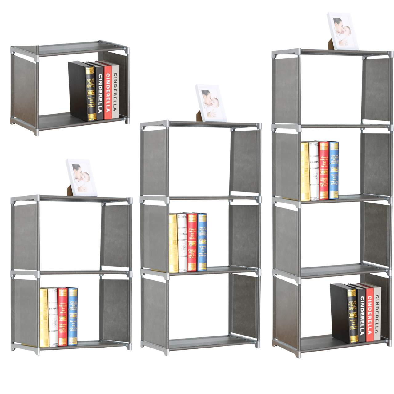 woltu rgb9267sb lagerregal standregal aufbewahrungregal. Black Bedroom Furniture Sets. Home Design Ideas