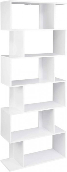 Bookcase with 6 compartments model Hashy white