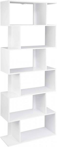 Bücherregal Modell Hashy mit 6 Fächer weiß
