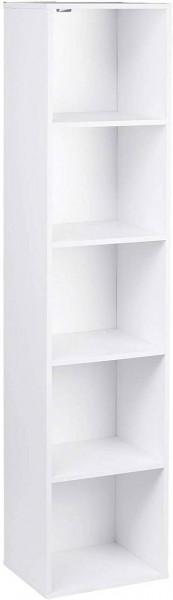 Bücherregal mit 5 Ebenen Modell Kuep weiß
