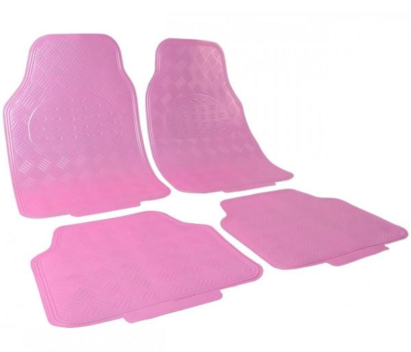 Auto Fußmatten rosa matt
