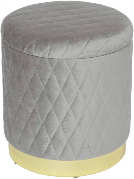 Eleganter Sitzhocker mit Stauraum & abnehmbaren Deckel aus Samt