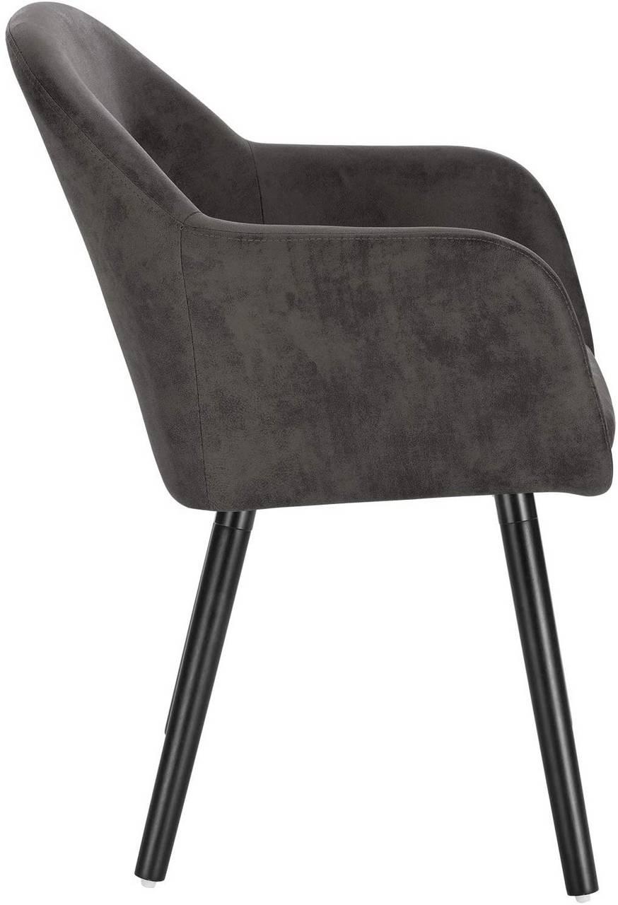 Fabric Wood Dining Chair Henny Model Woltu Eu