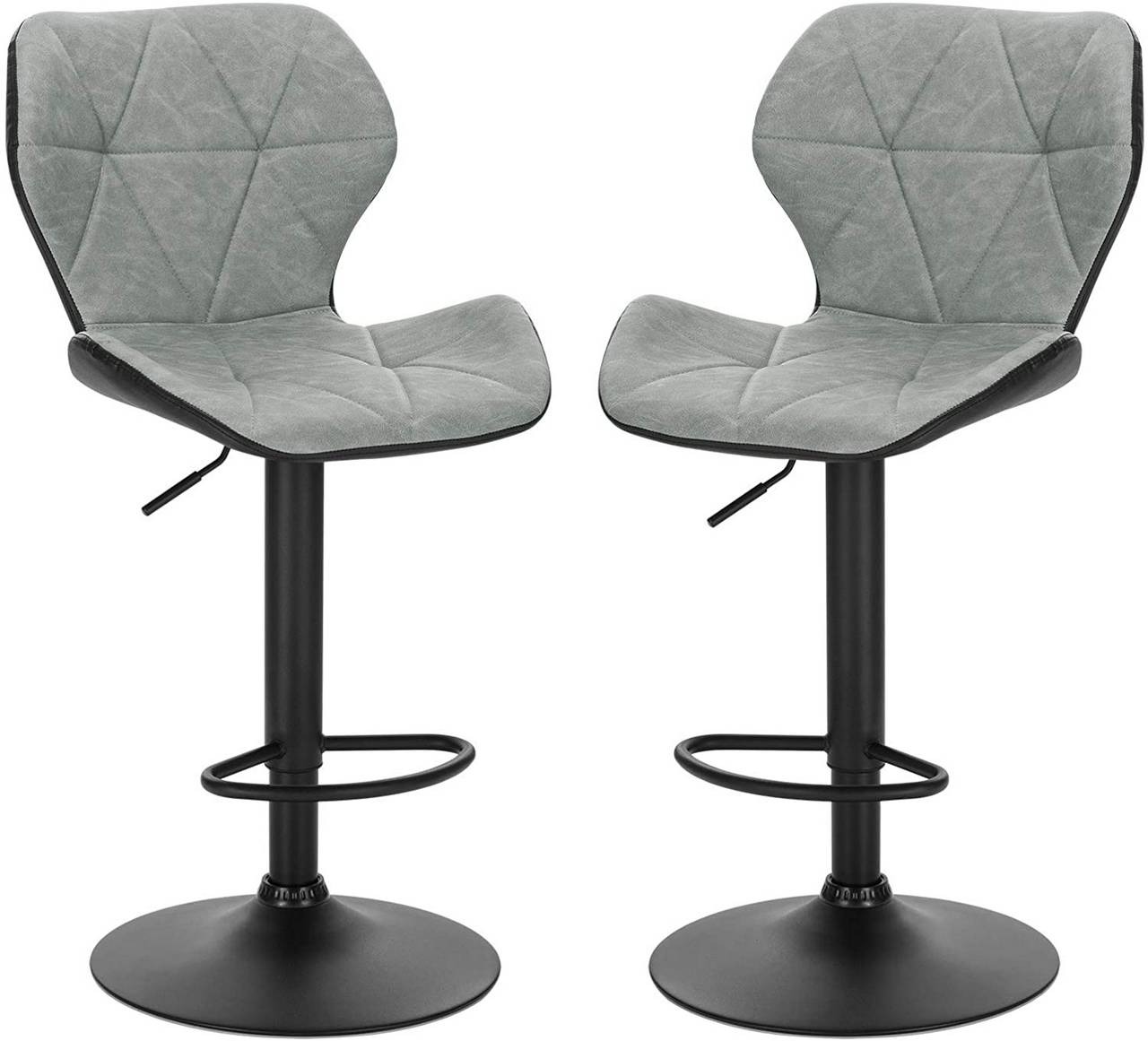Picture of: Set Of 2 Faux Leather Bar Stools Mery Model Woltu Eu