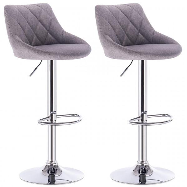 Linen Bar stool, 2pcs set, model Jon