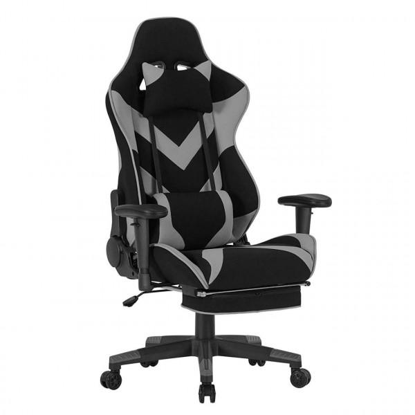 Gaming Stuhl mit Kopfstütze und Ledenkissen Modell Tom