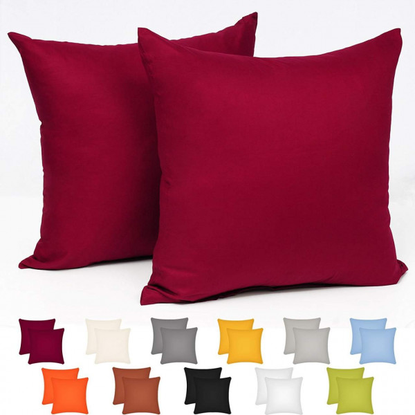Pillowcases made of 100% cotton, chocolate