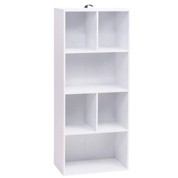 Bücherregal mit 6 Fächern Modell Kuep weiß